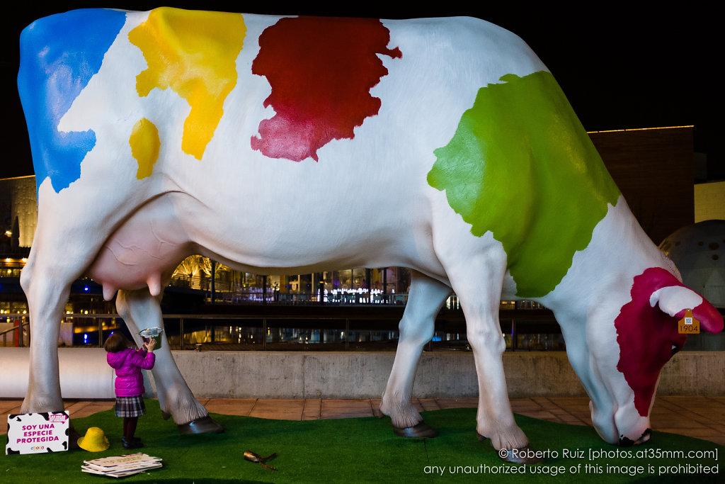 Nada que no hay manera de ordeñar a esta vaca